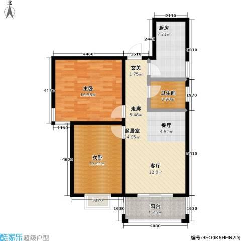嘉汇・凯旋花园2室0厅1卫1厨101.00㎡户型图