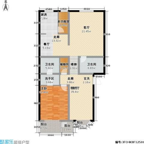 印象江南・太扬家园1室1厅2卫0厨134.00㎡户型图
