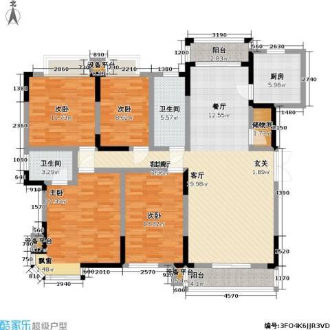 金桥新村4室1厅2卫1厨171.00㎡户型图