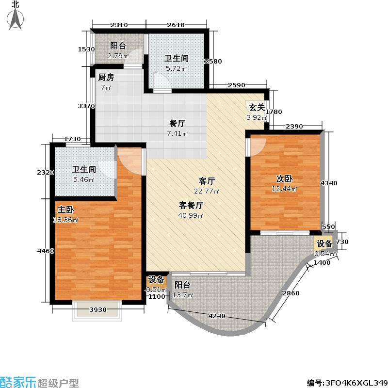 音乐广场(三期)93.98㎡房型: 二房; 面积段: 93.98 -125.1 平方米;户型