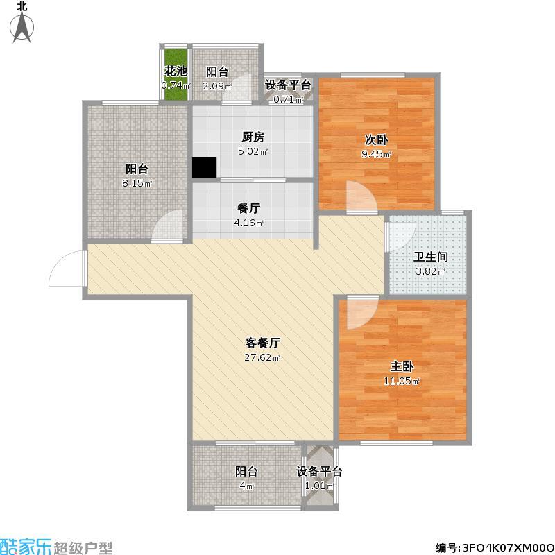 长沙龙湖湘风星城F3+改后户型