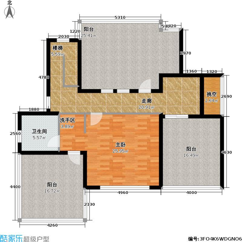 浪琴水岸133.00㎡房型: 复式; 面积段: 133 -171 平方米; 户型