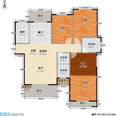 锦天・生态城3室0厅3卫1厨138.00㎡户型图