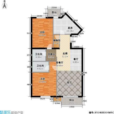 天娇美地2室1厅2卫1厨115.00㎡户型图
