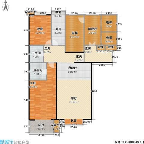 都市节奏2室1厅2卫1厨146.41㎡户型图
