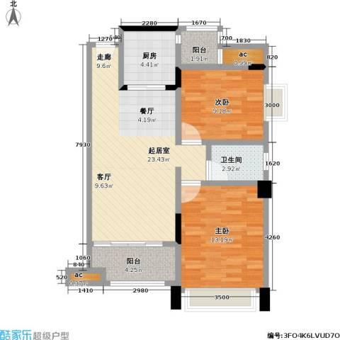 幸福湾2室0厅1卫1厨83.00㎡户型图