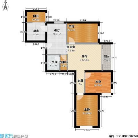 首开知语城3室0厅1卫1厨103.00㎡户型图