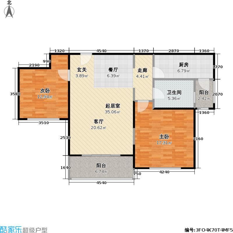 新沪东公寓94.00㎡房型: 二房; 面积段: 94 -109 平方米; 户型