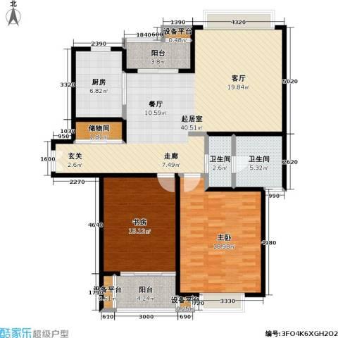 当代曹杨(中关村公寓)2室0厅2卫1厨100.55㎡户型图