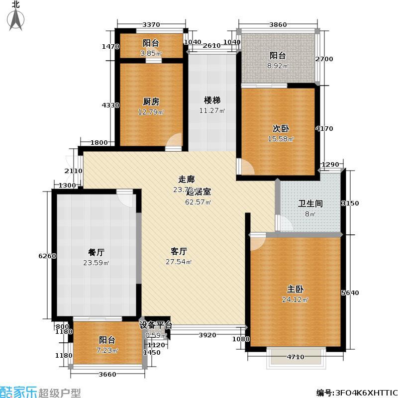 金沙雅苑(二期)187.50㎡房型: 复式; 面积段: 187.5 -187.5 平方米; 户型