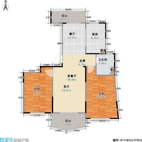 金月湾小区2室1厅1卫1厨110.00㎡户型图