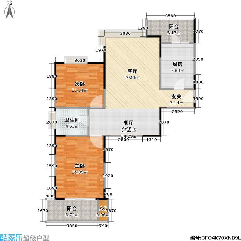 书香公寓一期92.00㎡房型: 二房; 面积段: 92 -114 平方米; 户型
