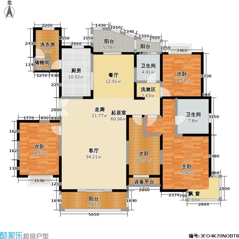 东方中华园190.00㎡房型: 四房; 面积段: 190 -250 平方米; 户型