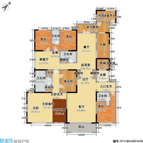 中海紫御豪庭3室0厅5卫0厨340.00㎡户型图