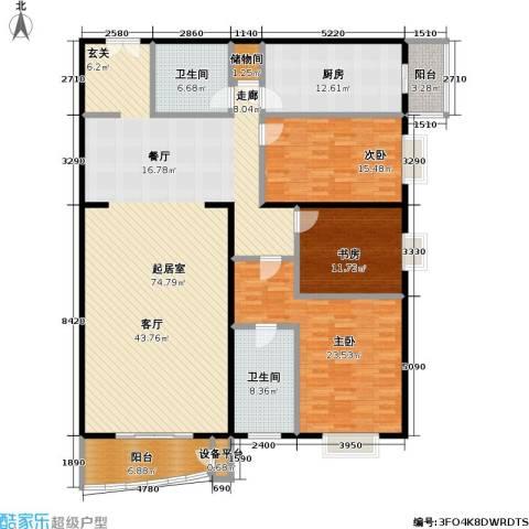 甲方乙方(日月天地)3室0厅2卫1厨213.00㎡户型图