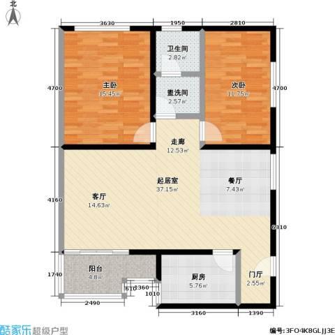 和义西里小区2室0厅1卫1厨91.00㎡户型图