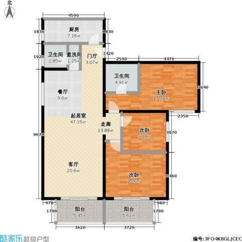 和义西里小区3室0厅2卫1厨119.00㎡户型图