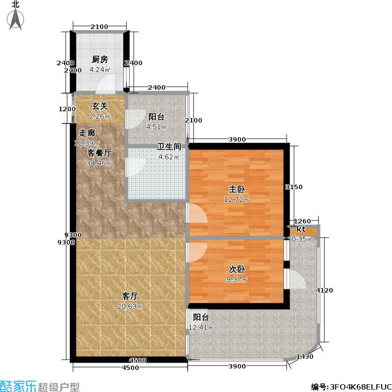 紫金庄园平层4-2户型