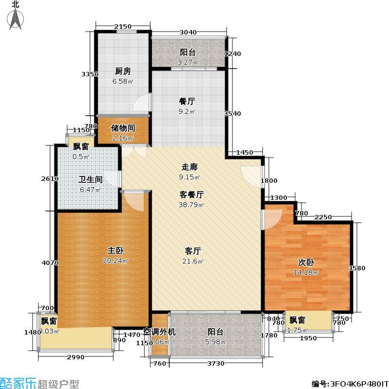 逸虹景苑2室2厅1卫106平米全南户型