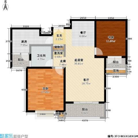 当代曹杨(中关村公寓)2室0厅1卫1厨97.00㎡户型图