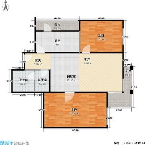 吉祥园2室0厅1卫1厨100.00㎡户型图