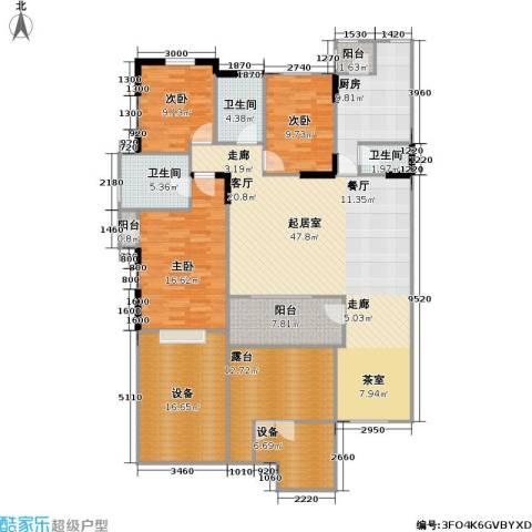 万科魅力之城尊域3室0厅3卫1厨205.00㎡户型图