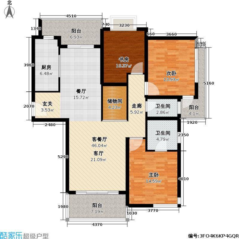 养生豪庭138平方米户型