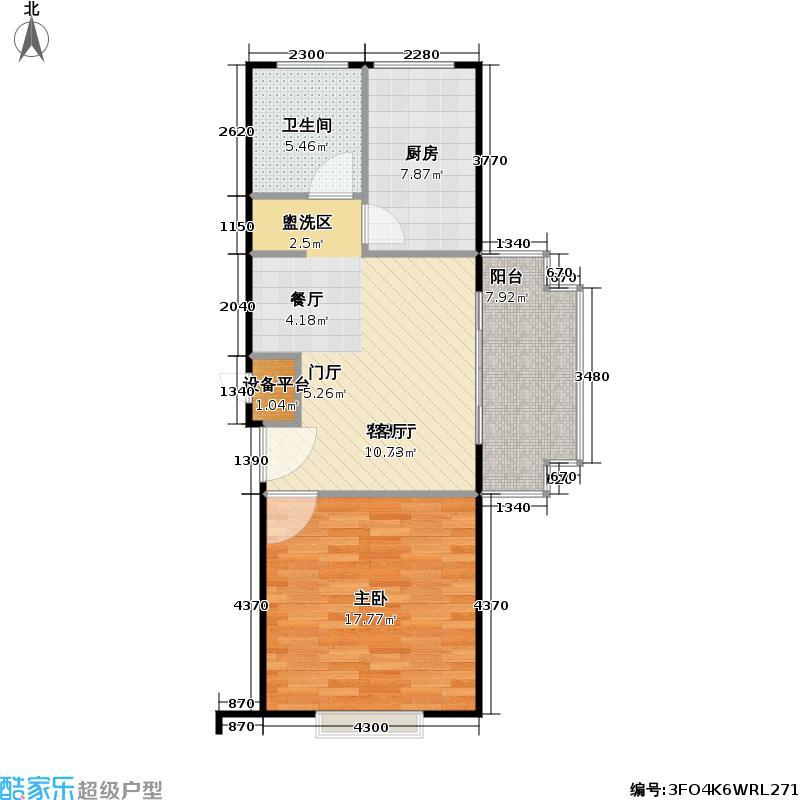 宝安新苑五期房型户型1室1厅1卫1厨