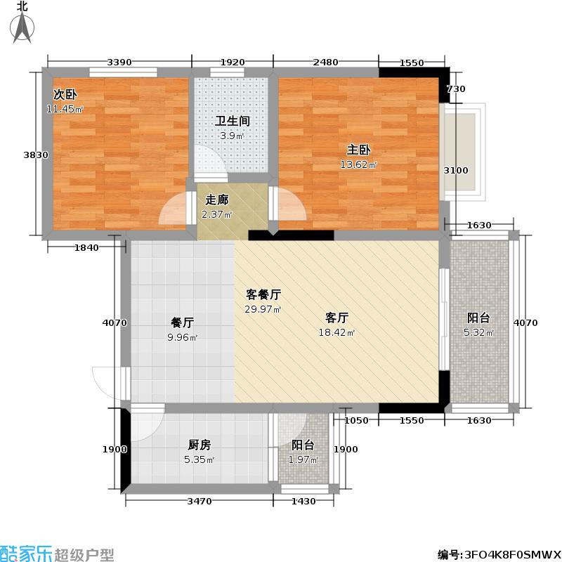 金色世纪(二期)68.02㎡房型:二房;面积段:68.02-72.61平方米;户型10室
