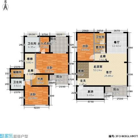 和义西里小区4室0厅3卫1厨181.00㎡户型图