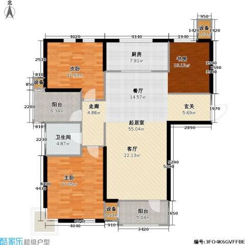 万科魅力之城尊域2室0厅1卫1厨154.00㎡户型图