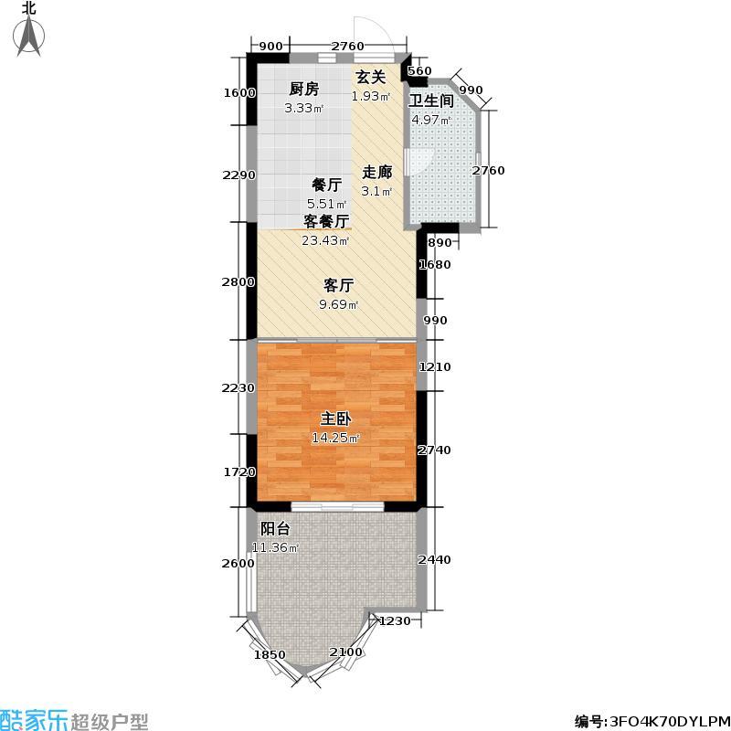 平海・逸龙湾户型1室1厅1卫