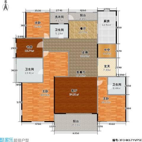 九龙仓国宾1号4室1厅3卫1厨245.00㎡户型图