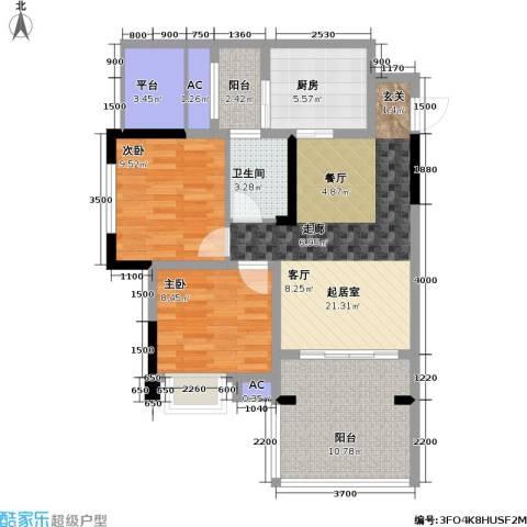 金科蚂蚁SOHO二代2室0厅1卫1厨98.00㎡户型图