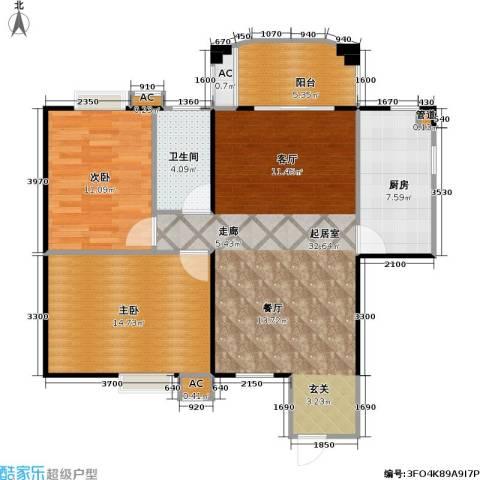海阔天空・国瑞城2室0厅1卫1厨103.00㎡户型图