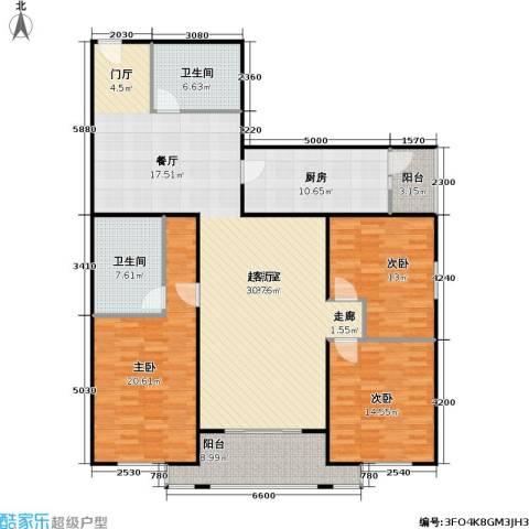 吉祥园3室0厅2卫1厨149.00㎡户型图