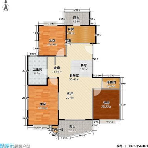 金月湾小区3室0厅1卫1厨105.00㎡户型图