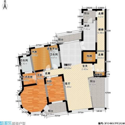 天域3室1厅2卫1厨140.00㎡户型图