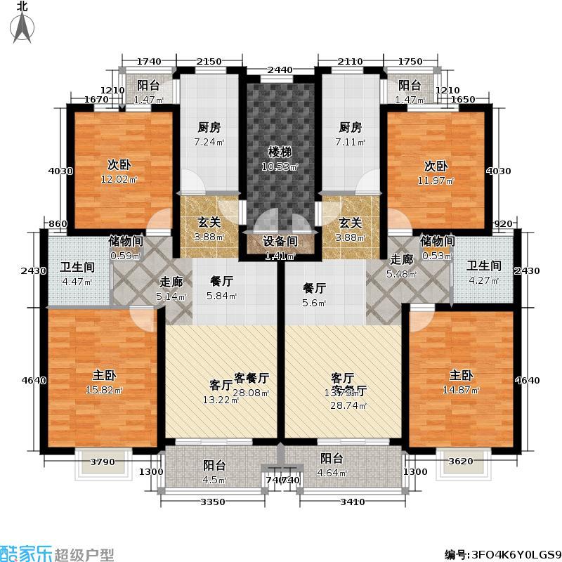 金水湾贵园一、二期户型4室2厅2卫2厨