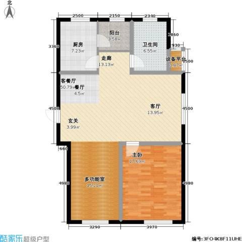 印象江南・太扬家园1室1厅1卫1厨97.00㎡户型图