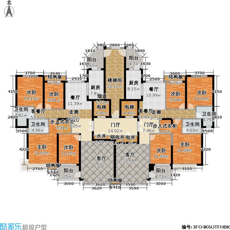 恒大御景半岛4、6号楼A、B户型