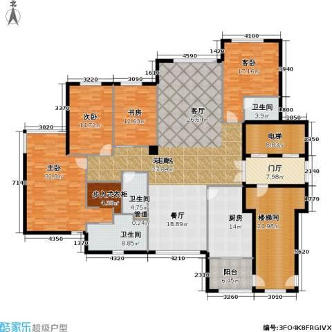 大西洋新城4室0厅3卫1厨227.31㎡户型图
