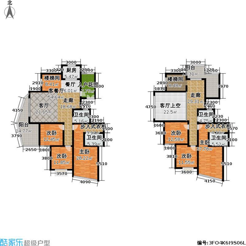 御景园户型6室1厅4卫1厨