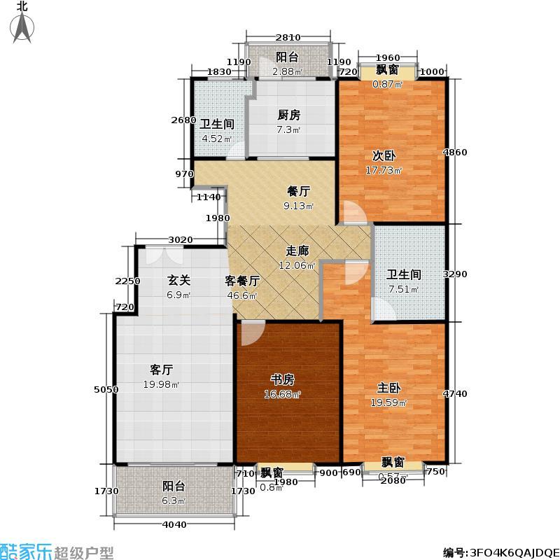 申亚新华府138.00㎡房型: 三房; 面积段: 138 -175 平方米; 户型