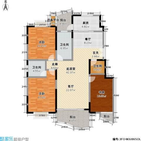 金日世家玉兰苑3室0厅3卫1厨140.00㎡户型图