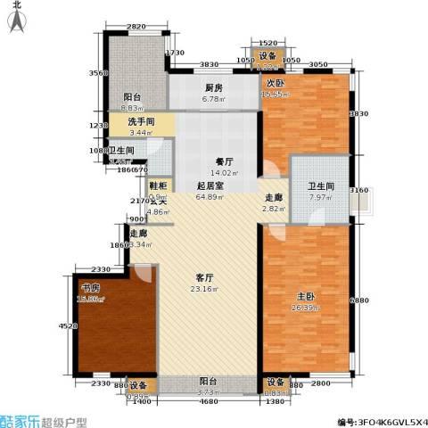 万科魅力之城尊域3室0厅2卫1厨163.00㎡户型图