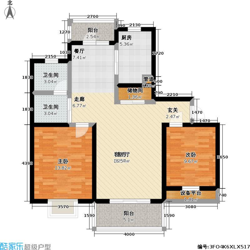 万里城(一期)92.00㎡房型: 二房; 面积段: 92 -100 平方米; 户型