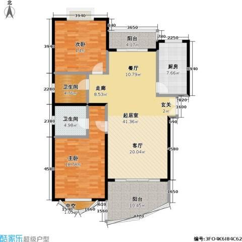 金日世家玉兰苑2室0厅2卫1厨120.00㎡户型图
