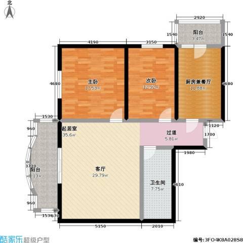 怡清园(尾房)2室0厅1卫0厨103.00㎡户型图