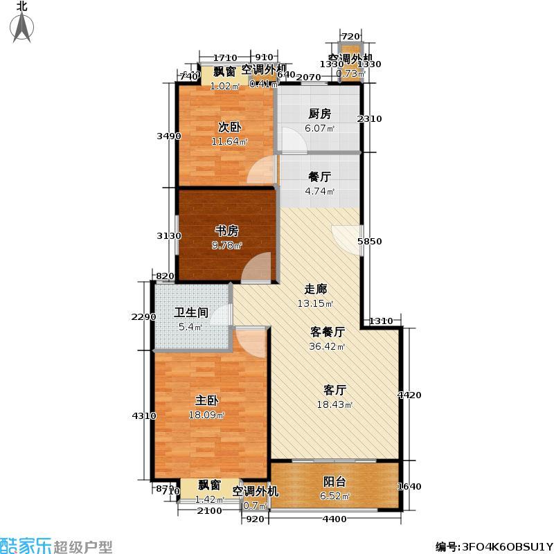 正阳世纪星城二期户型3室1厅1卫1厨